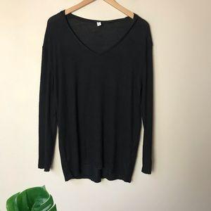 bp   Oversized V Neck Pullover Sweater Small Black